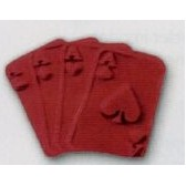 Playing Cards Stock Shape Pencil Top Eraser